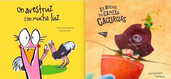 Portadas de dos de los libros de José Carlos Andrés.