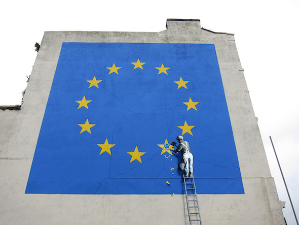 Mural de Banksy en Dover. Foto: Banksy.co.uk