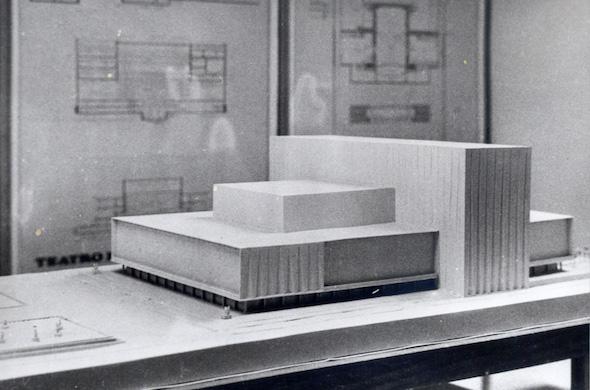 Concurso para Teatro Nacional de Ópera en Madrid. Segundo Premio. Arquitectos Moreno Barberá y Holzmeister. Foto: Cortesía de la Fundación Juan March.