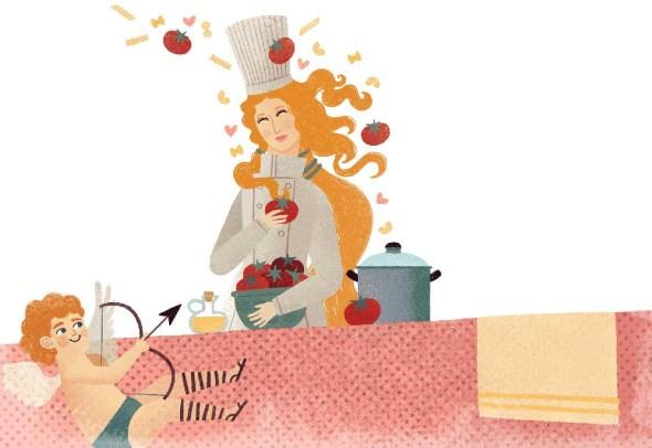Una ilustración del libro 'Aventuras y desventuras de los alimentos que cambiaron el mundo'.