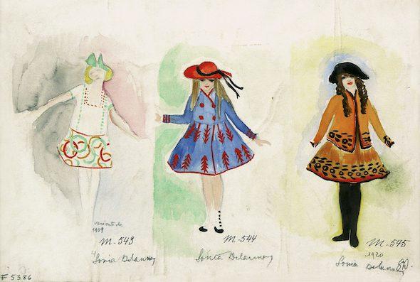 Sonia Delaunay Tres vestidos para niños, 1920