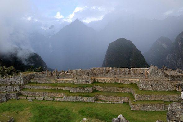 Construcciones en la ciudad de Machu Picchu.