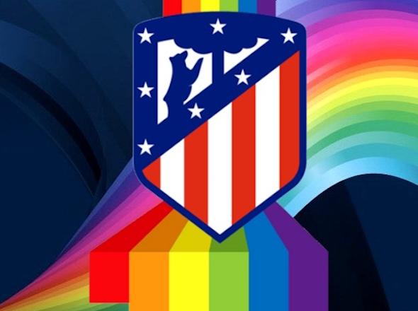 Logotipo del grupo LGTBI de seguidores del Atlético de Madrid realizado por Fito Vázquez.