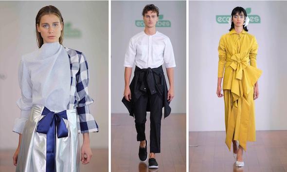 Tres propuestas de María Clè en la Semana de la Moda de Madrid.