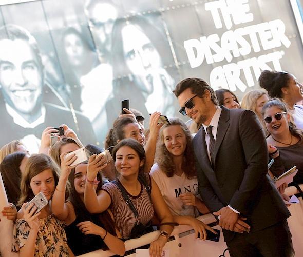 El actor y director James Franco en San Sebastián presentando su película The disaster artist. Foto: Montse Castillo.