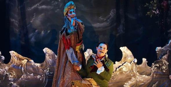 Una escena de Bastián y Bastiana de Mozart que se representa en Les Arts Volant por pueblos de Valencia.