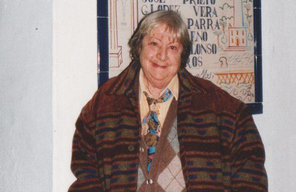 La escritora Gloria Fuertes