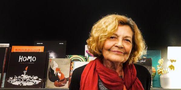 Mercedes Bouzo, editoria de Narval, en la galería madrileña Mad is Mad. Foto: Manuel Cuéllar.