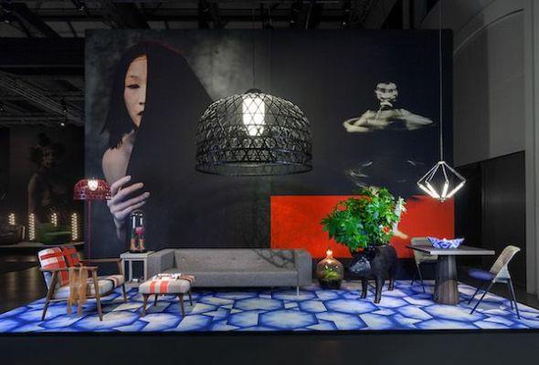Recreación de una habitación por Moooi Carpets dentro de la exposición 'Viva la diferencia'.