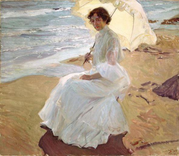 Clotilde en la playa, 1904. Joaquín Sorolla y Bastida. Museo Sorolla, Madrid.