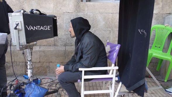 El director Tarik Saleh en el rodaje.