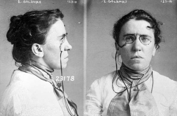 Foto tomada en 1901 cuando Emma Goldman estuvo implicada en el asesinato del presidente McKinley. Foto: Biblioteca del Congreso de Estados Unidos.