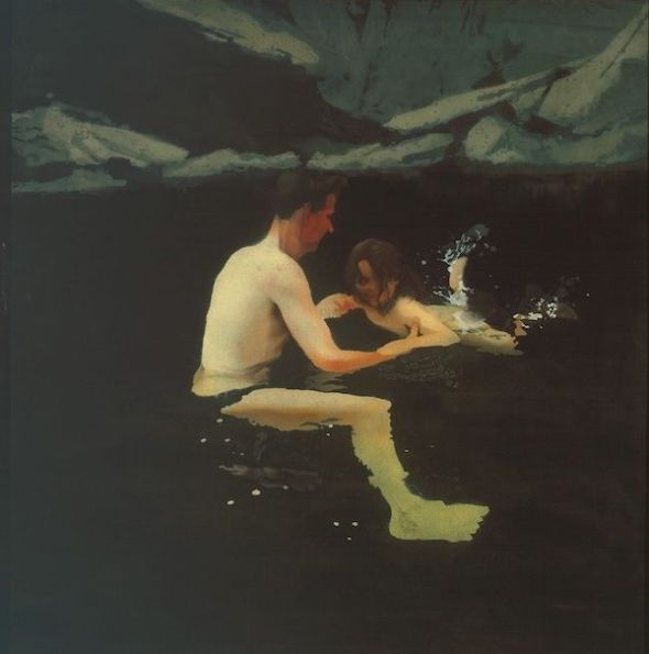 Michael Andrews. Melanie and Me Swimming. Tate © The estate of Michael Andrews