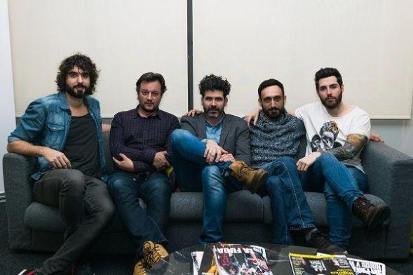 Los cinco miembros del grupo Izal. Foto: Fernando Mateos.