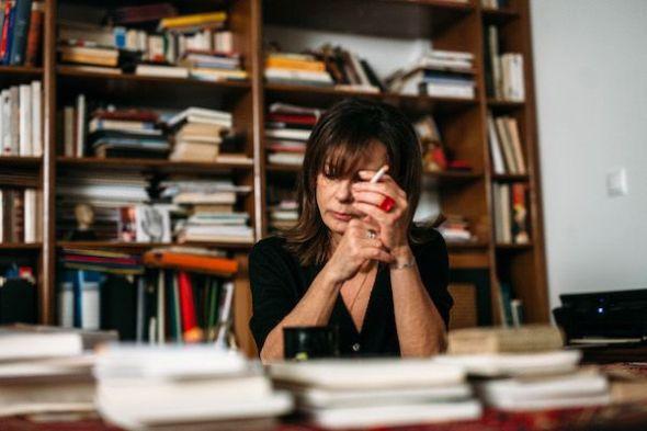 La escritora Ersi Sotiropoulos: Foto: Paris Tativian.