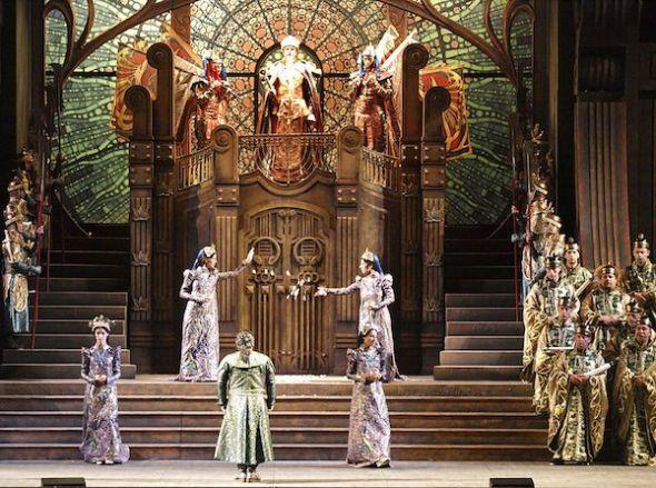 Escenografía para 'Turandot' de Puccini en Torre del Lago.
