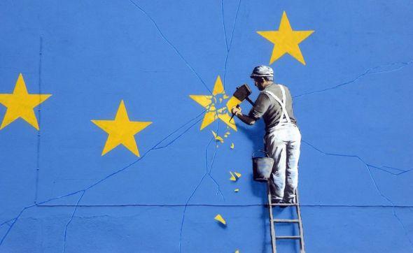 Un grafiti sobre el Brexit de Banksy