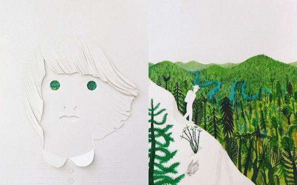 Una imagen de 'El Bosque', de Riccardo Bozzi. Con ilustraciones de Violeta Lópiz y Valerio Vidali.
