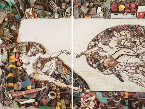 Una obra de Vic Muniz.