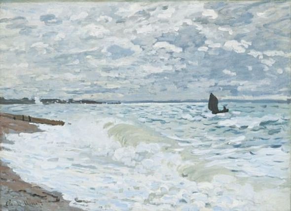 Claude Monet El mar en El Havre, 1868 (La Mer au Havre) (The Sea at Le Havre) Óleo sobre lienzo. 60 x 81,6 cm Carnegie Museum of Art, Pittsburgh.
