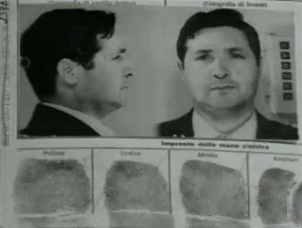 Ficha policial del sanguinario mafioso Salvatore Riina.