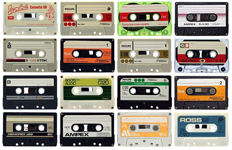 Un mosaico de cassettes