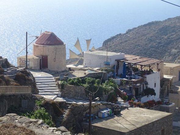 uno de los pocos molinos que todavía funcionan en Olympos Karpathos. Foto: Antoni Font.