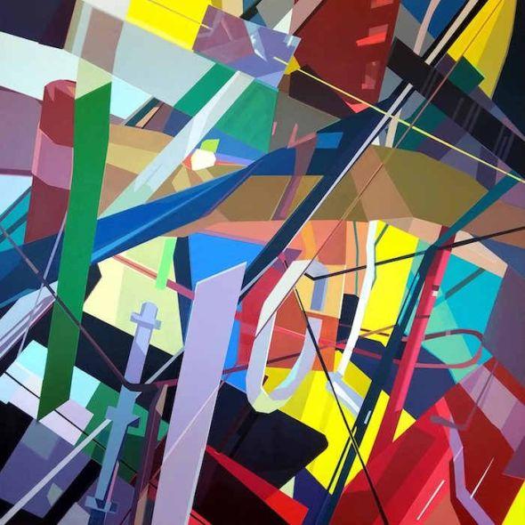 Lidia Sancho. 'Contrast'. Acrílico sobre lienzo.