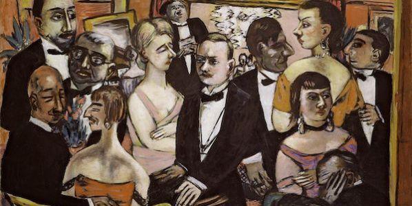 Max Beckmann Sociedad, París, 1931.(Gesellschft Paris). Solomon R. Guggenheim Museum, Nueva York.