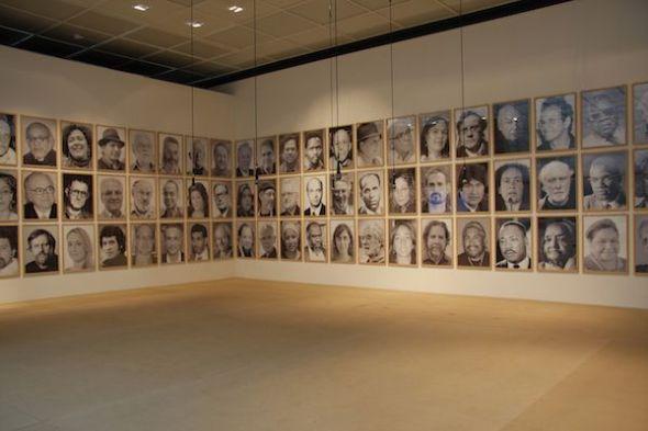 Ingrid Wildi Merino. Arquitectura de las transferencias. La hybris del punto cero I, 2013. Vista de instalación, Württembergischer Kunstverein, Stuttgart. Cortesía de la artista.