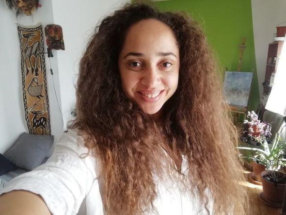Selfie de la actriz Anahí Beholí.