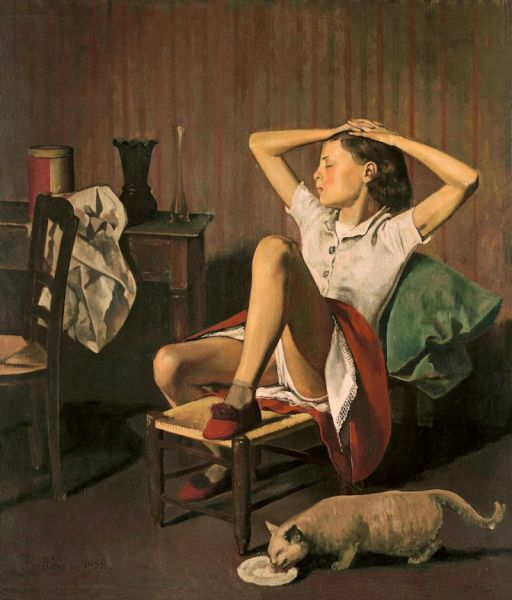 Balthus. Thérèse, 1938. The Metropolitan Museum of Art, Nueva York. Bequest of Mr. and Mrs. Allan D. Emil, in honor of William S. Lieberman, 1987.