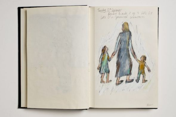 Bobby Baker. Dibujos. 1984-1985 Foto: Manuel Blanco, 2019.