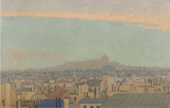 Charles Lacoste (1870-1959). Vista de Montmartre, 1900. Colección particular.
