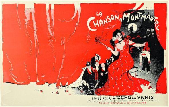 Jules Grün (1868-1938), La canción de Montmartre, 1900. Colección particular.