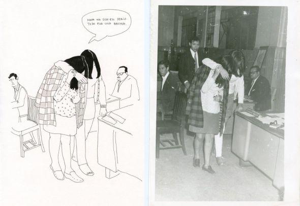 A la izquierda la obra '1A Cucurrucucú' y a la derecha, '1B Cucurrucucú'. Ambas de Cristina de Middel.