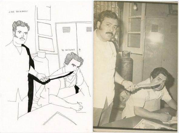 La la izquierda la obra '1A Cucurrucucú' y la '1B Cucurrucucú'. Ambas de Cristina de Middel.