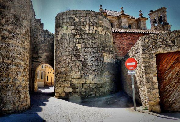 Una de los arcos junto a la muralla de Ureña en Valladolid. Foto: José Luis Cernadas Iglesias.
