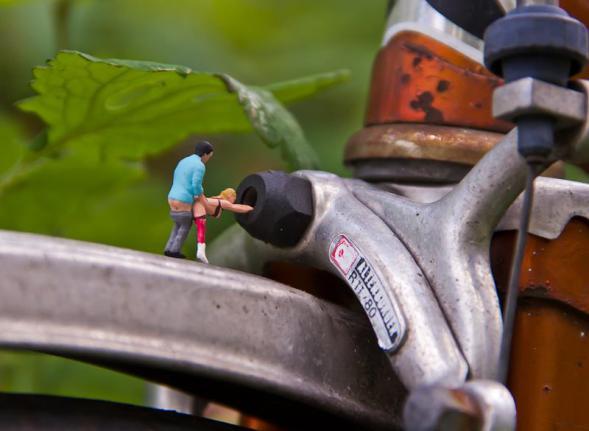 Sexo sobre la bicicleta. Foto: Mr Peluche.