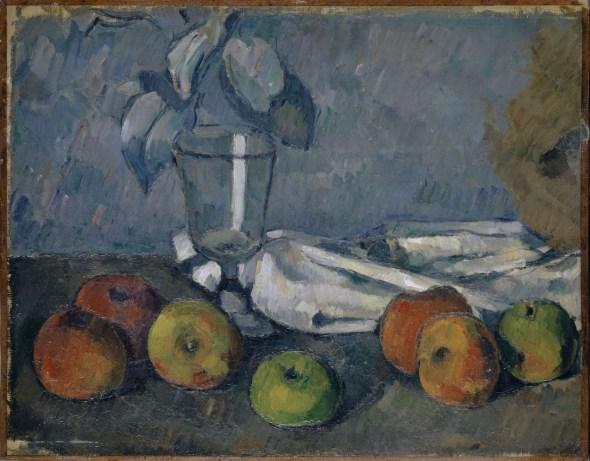 Paul Cézanne (1839–1906); Verre et pommes; 1879–1882. Colección Rudolf Staechelin. Kunstmuseum Basel.