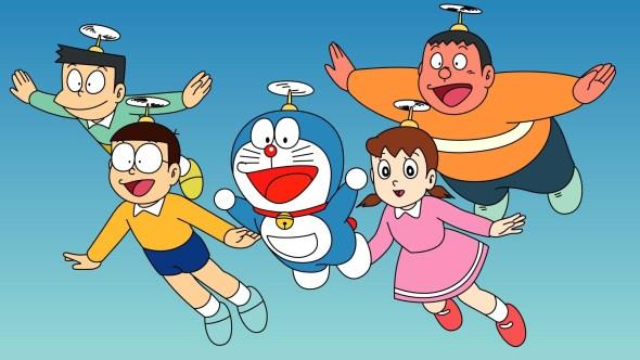 Una imagen de Doraemon, el gato cósmico.
