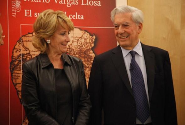 Esperanza Aguirre y Mario Vargas Llosa. Foto: madrid.org