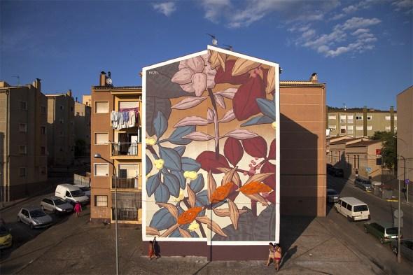 El mural de Pastel en la Font de la Pólvora, terminado. Foto: Milestone Project.