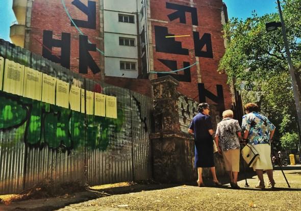 Obra del Eltono realizada en el número 34 de la calle de