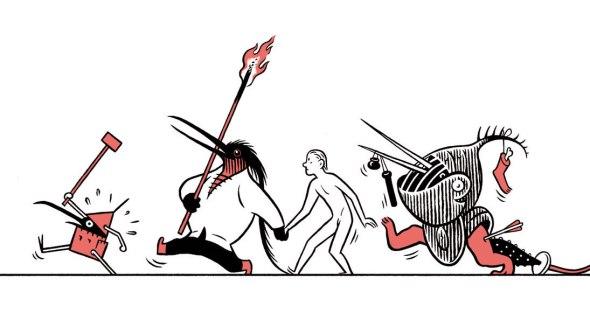 Ilustración de la portada del libro 'El Tríptico de los Encantados' de Max.
