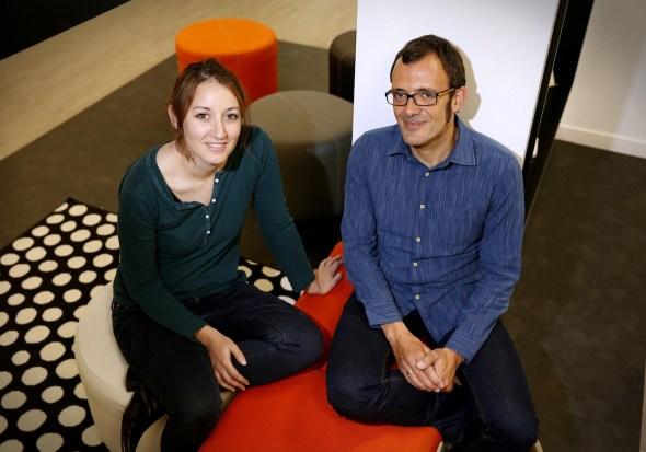 Cristina Bueno e Isaac Rosa. Foto: C. Bejarano.