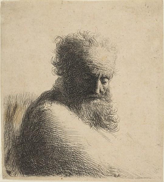 Grabado de Rembrandt en el Metropolitan de Nueva York. (1606–1669 Amsterdam).