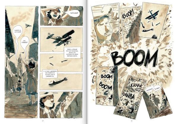 Dos páginas del cómic Asylum.