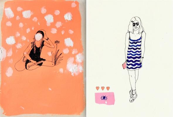 Algunas de las chicas de la novela Corazón de robot realizadas por la artista Miki Lowe.
