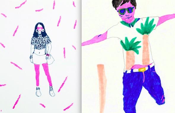 Ilustraciones de Miki Lowe para el libro juvenil 'Corazón de robot'.